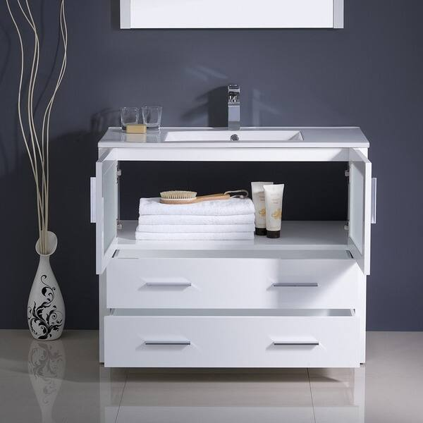 Fresca Torino 36 Inch White Modern Bathroom Vanity With