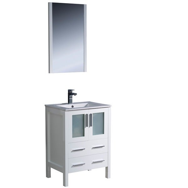 Fresca Torino 24 Inch White Modern Bathroom Vanity With Undermount Sink Fre