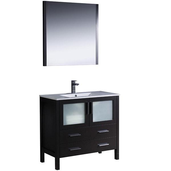 Fresca Torino 36-inch Espresso Modern Bathroom Vanity with Undermount Sink