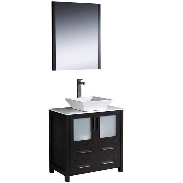 Fresca Torino 30 Inch Espresso Modern Bathroom Vanity With Vessel Sink Free