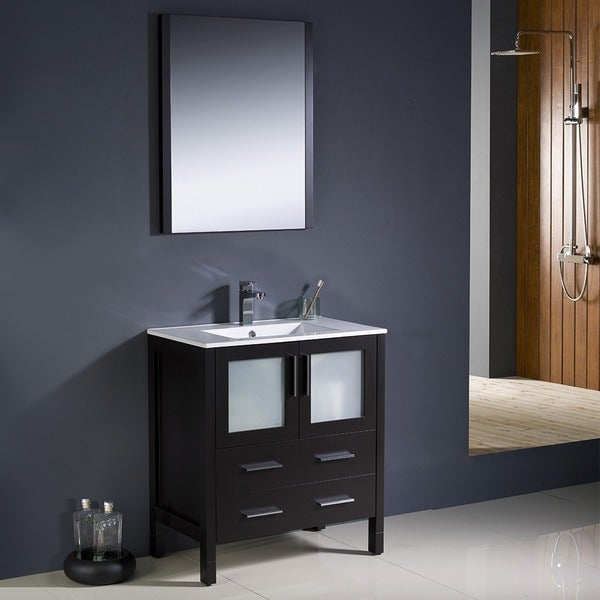 Fresca Torino 30-inch Espresso Modern Bathroom Vanity with Undermount Sink