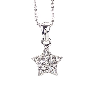 Rhodium Crystal 'Star' Pendant (Thailand)