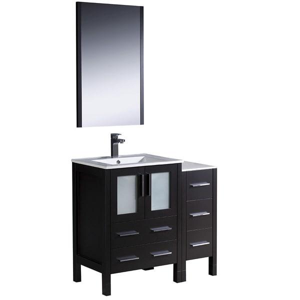 Fresca Espresso 36 Inch Bathroom Vanity Free Shipping Today 14906513