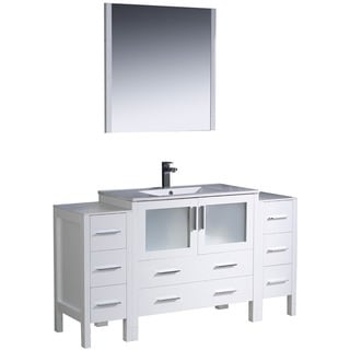 Fresca White 60-inch Bathroom Vanity
