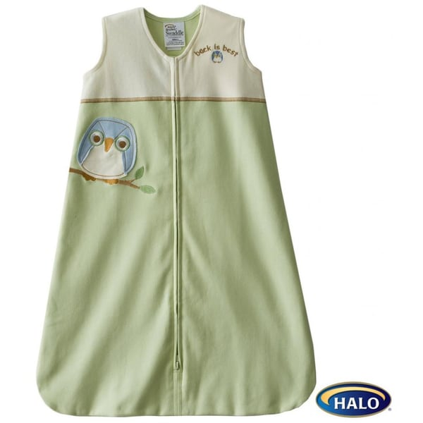 Halo SleepSack Lime Owl Cotton Wearable Blanket