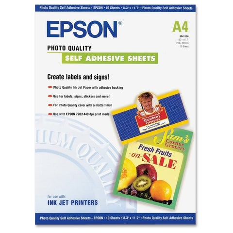 Epson A4 Self-Adhesive Photo Paper