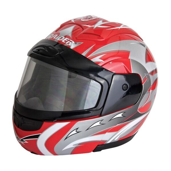 Raider Modular Red Snow Helmet