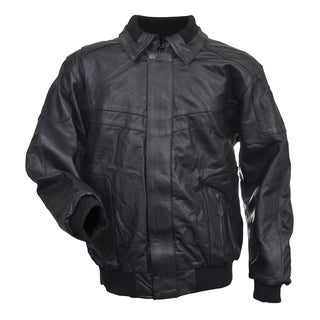Mossi Black Leather Snowmobile Jacket (2 options available)