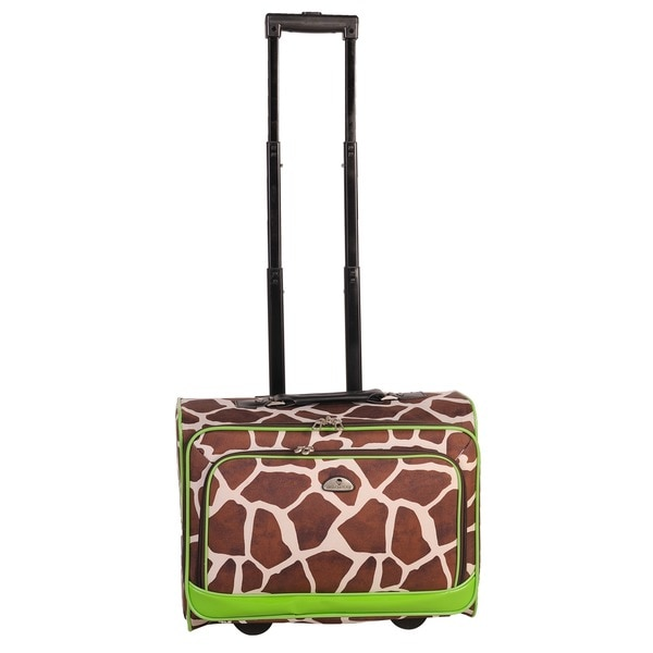 Shop American Flyer Giraffe Green 17 Inch Rolling Carry On