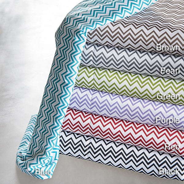 Strada Chevron Printed Sheet Set