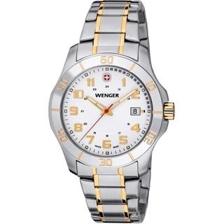 Wenger Men's Alpine Two-Ttne Silver Dial Stainless Steel Watch