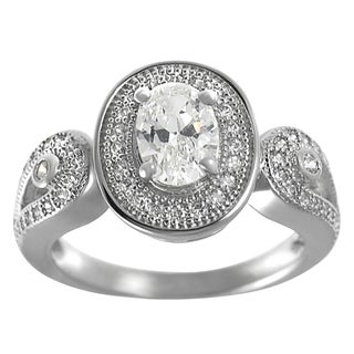 Journee Collection Sterling Silver CZ Bridal-style Solitaire Engagement Ring