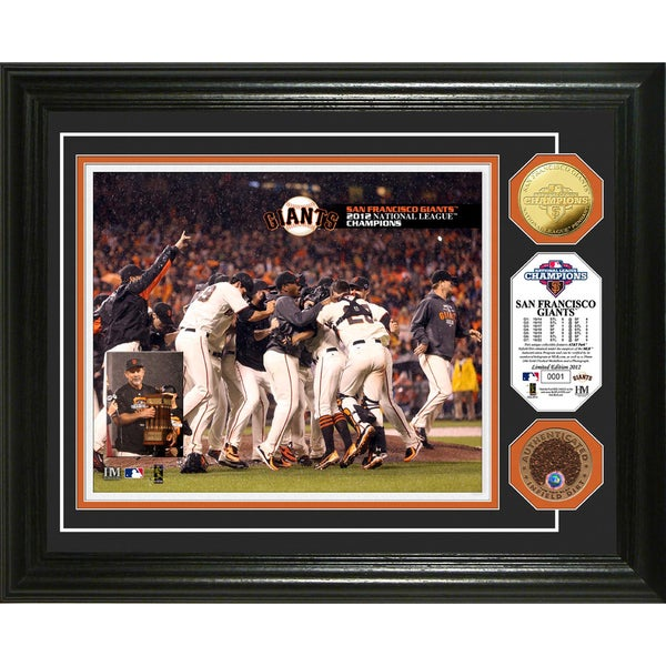 2012 NL Champions Celebration Gold Coin Photo Mint