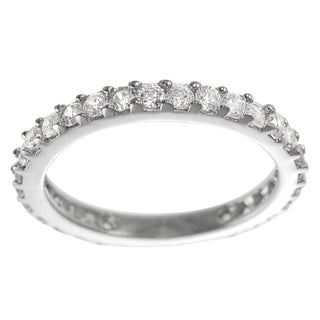 Journee Collection Silver Cubic Zirconia Band