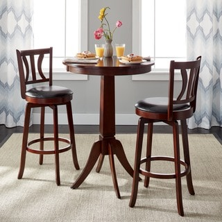 Simple Living Mahogany Finish 3 Piece Anderson Pub Set
