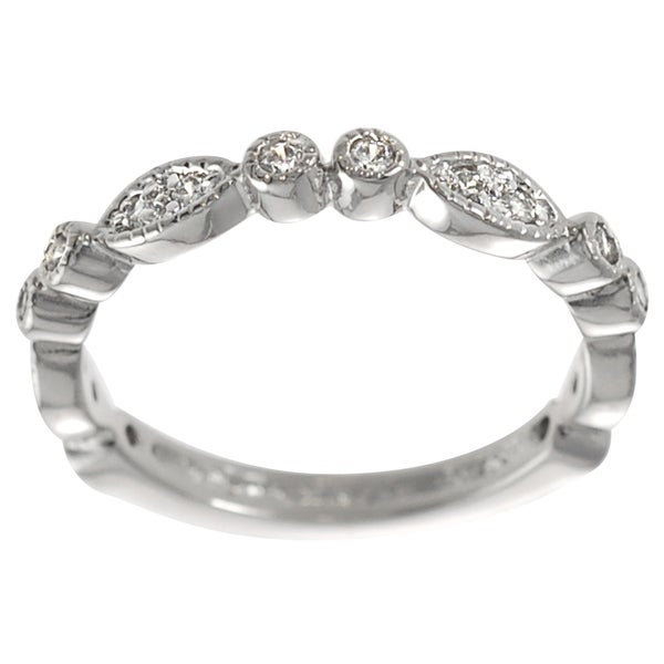 Journee Collection Sterling Silver White Cubic Zirconia Vintage Ring