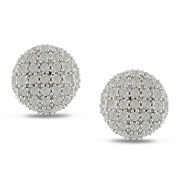 Sterling Silver 1ct TDW Diamond Stud Earrings