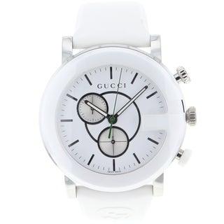 Gucci Men's White G-Chrono Watch