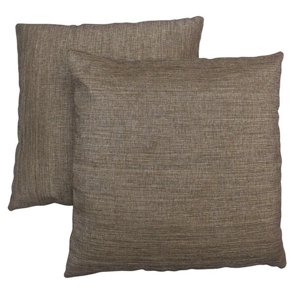 ABBYSON LIVING Aspen 18-inch Light Two-tone Brown Decorative Pillows (Set of 2)