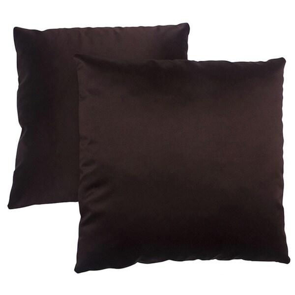 Abbyson Living Bliss 18-inch Dark Brown Decorative Pillows (Set of 2)