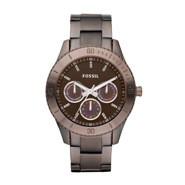Fossil Women's ES3021 Stella Brown Chronograph Watch