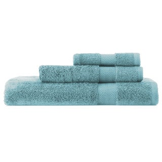Pima Cotton Chevron Border 3-piece Towel Set