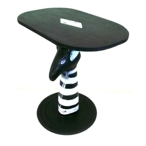 Handmade Zebra Tribal Coffee Table Ghana Free Shipping Today