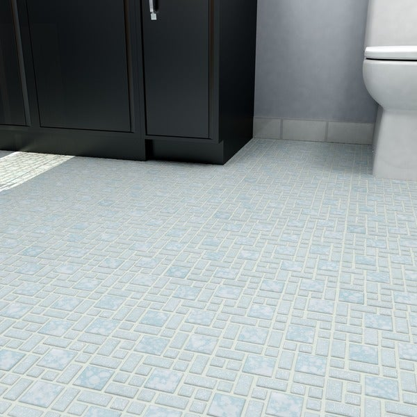 somertile x academy blue porcelain floor