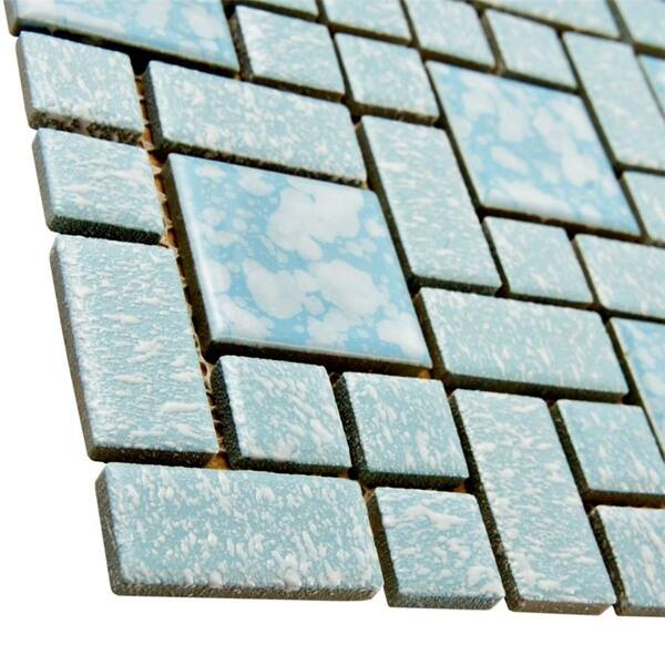 Mosaic tiles 75 Gold Blue Vitreous Glass Mosaic 20mm Tiles GA11