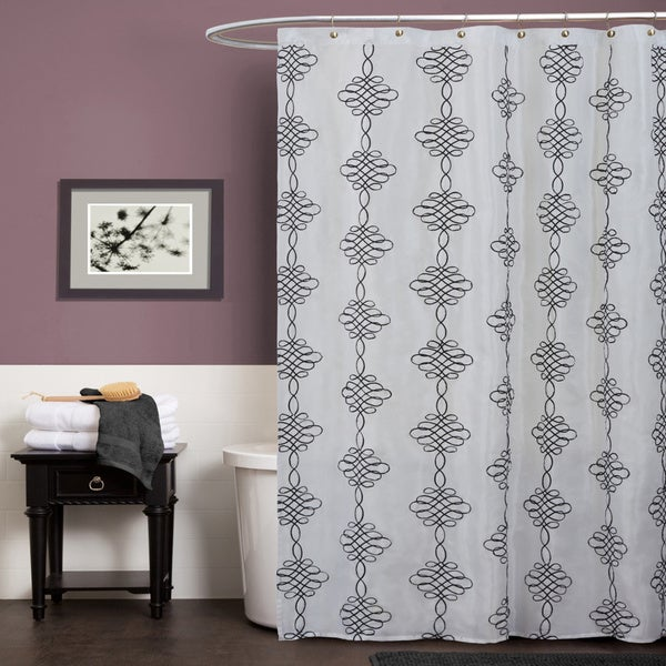 Lush Decor Celina White Shower Curtain Free Shipping On Orders Over 45 14907697