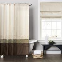 Copper Grove Mostri Green / Brown Shower Curtain
