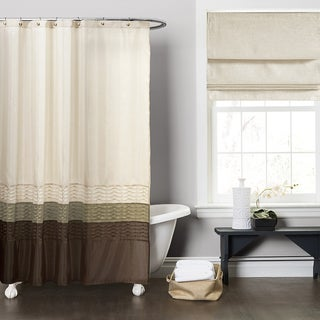 Copper Grove Mostri Green / Brown Shower Curtain