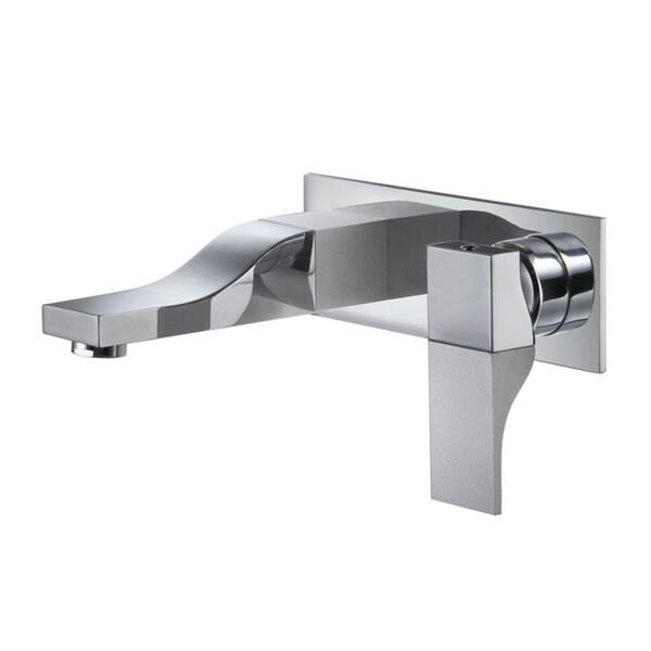 CAE Wall-mount Single-handle Chrome Vessel Sink Bathroom Faucet