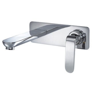 CAE Wall-mount Single-handle Chrome Vessel Sink Bathroom Faucet