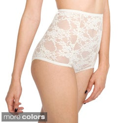 American Apparel Women's Nylon Stretch Lace High-waist Briefs
