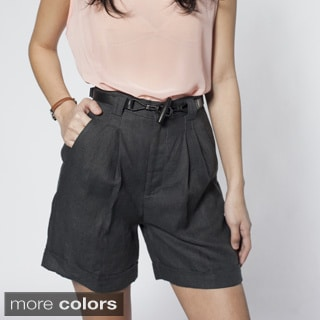 American Apparel Women's Pleated Shorts