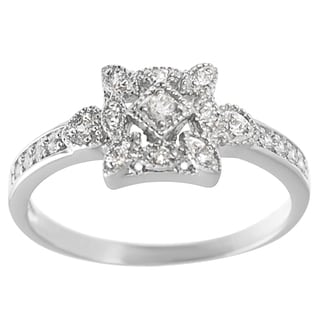 Journee Collection Sterling Silver Cubic Zirconia Vintage Ring