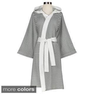 Women's Organic Cotton Stripe Bath Robe|https://ak1.ostkcdn.com/images/products/7458364/P14907812.jpg?impolicy=medium