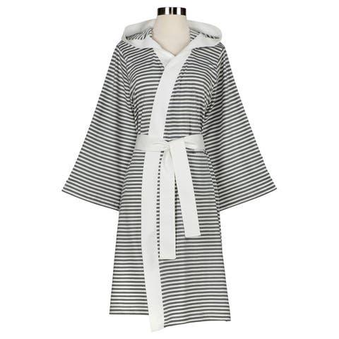 Women's Organic Cotton Stripe Bath Robe