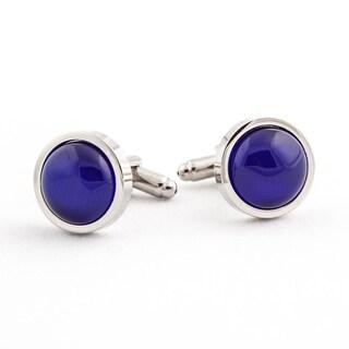 Royal Blue Catseye Cufflinks Cuff Links