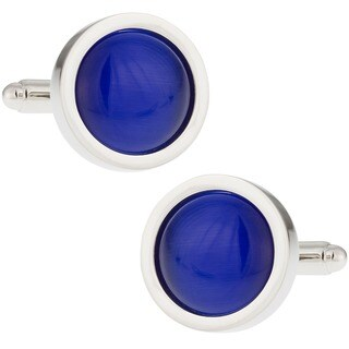 Royal Blue Catseye Cufflinks Cuff Links