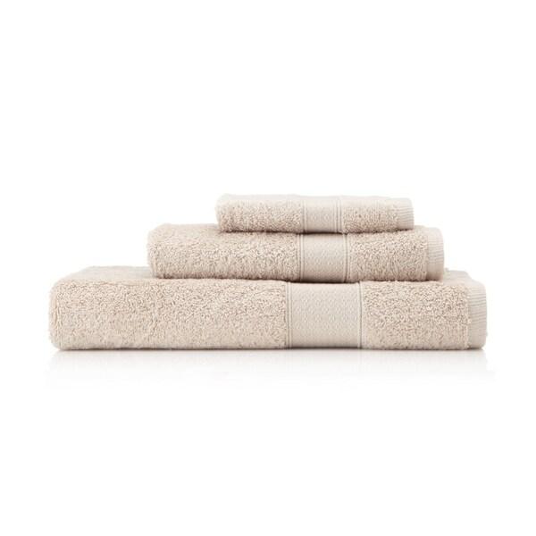 Pima Cotton Diamond Tile Border Alpaca 3-piece Towel Set