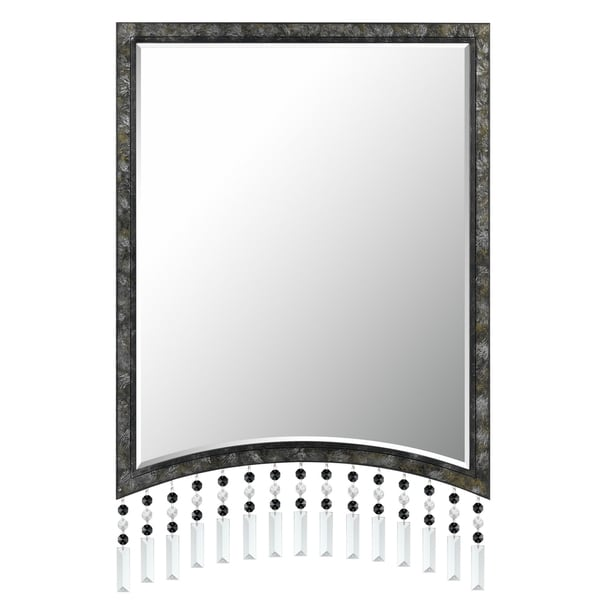 Cal Lighting Argenta Beaded Rectangular Metal Mirror