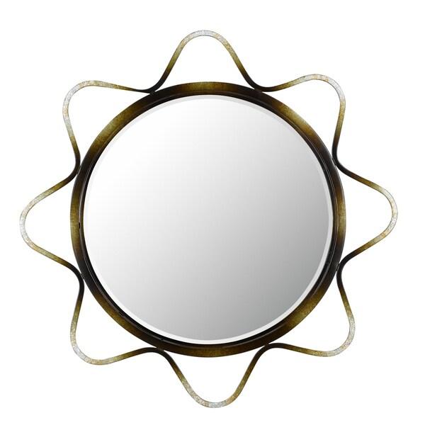Cal Lighting Lorca Round Metal Mirror