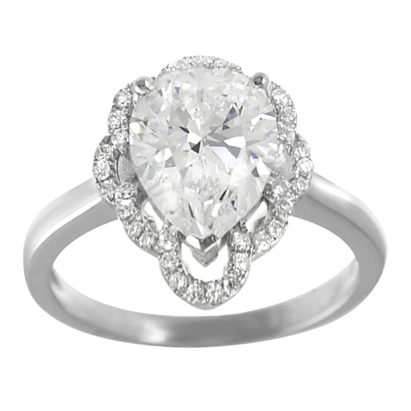 Journee Collection Sterling Silver Cubic Zirconia Engagement-style Ring