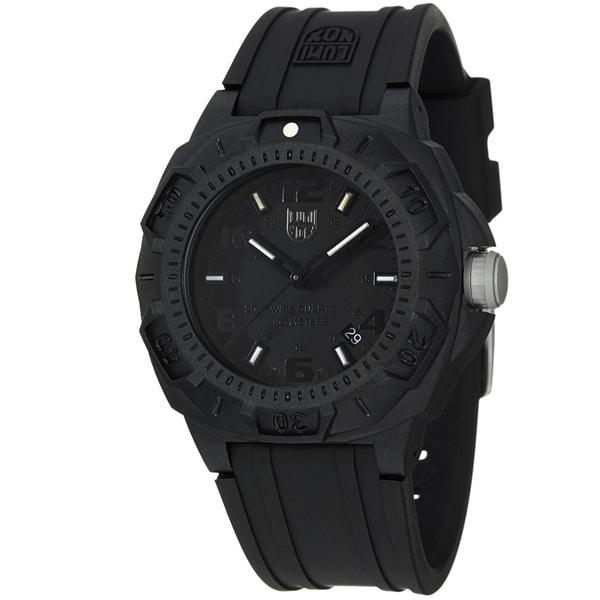 Luminox Men's 'Sentry' Black Dial Black Rubber Strap Quartz Watch