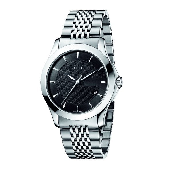 f245ff5d8fc Shop Gucci Men s  Timeless  Stainless Steel Watch - silver - Free Shipping  Today - Overstock - 7458883