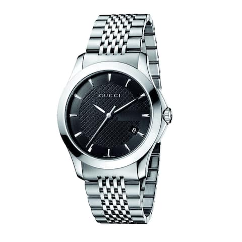 15ab62fc84f Gucci Men s  Timeless  Stainless Steel Watch ...