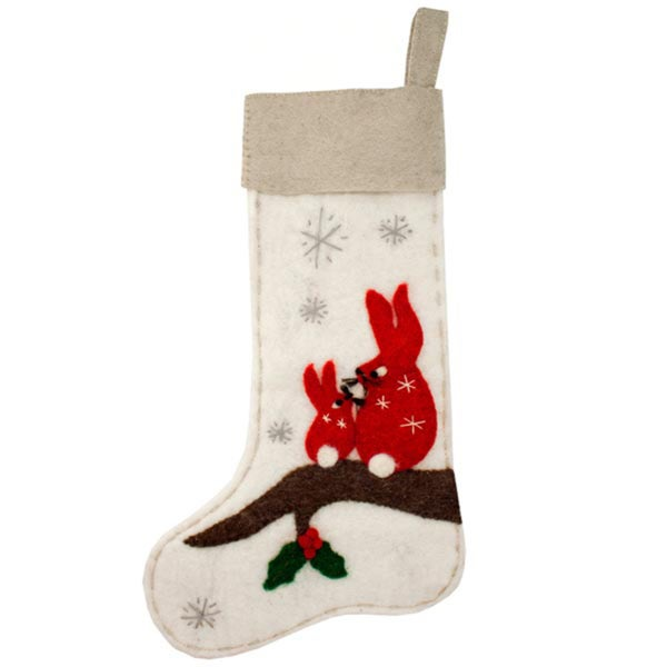 Woodland Rabbit Felt Stocking (Nepal)