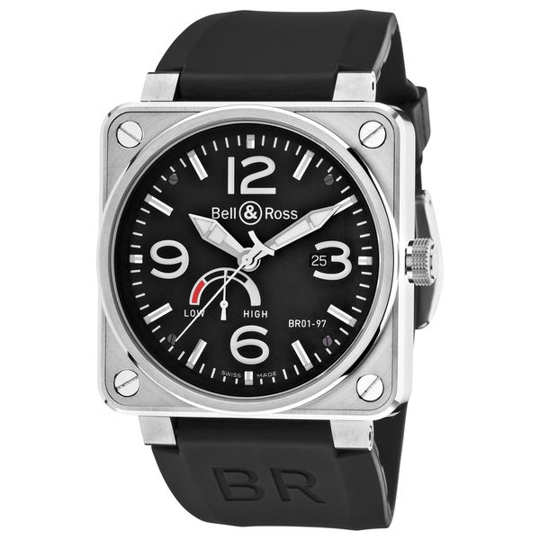 Bell & Ross Men's 'Aviation' Black Dial Power Reserve Automatic Watch